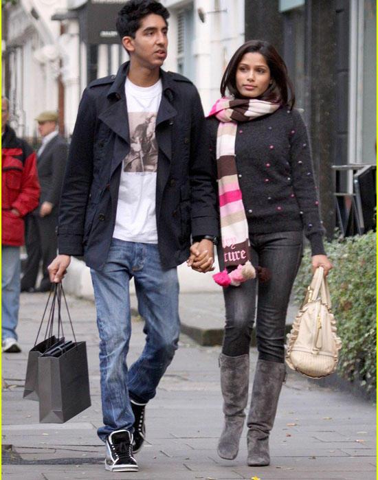 Freida Pinto and Dev Patel  Shopping Still