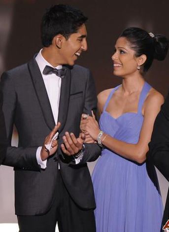 Freida Pinto and Dev Patel Smiling Face Still
