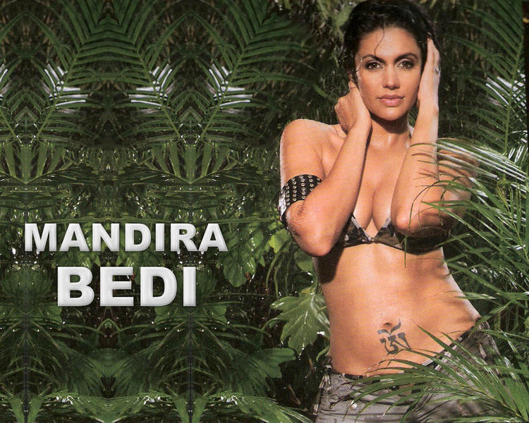 Bikini Babe Mandira Bedi Sexiest Wallpaper