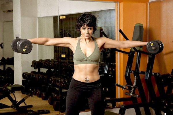 Mandira Bedi Gym Still