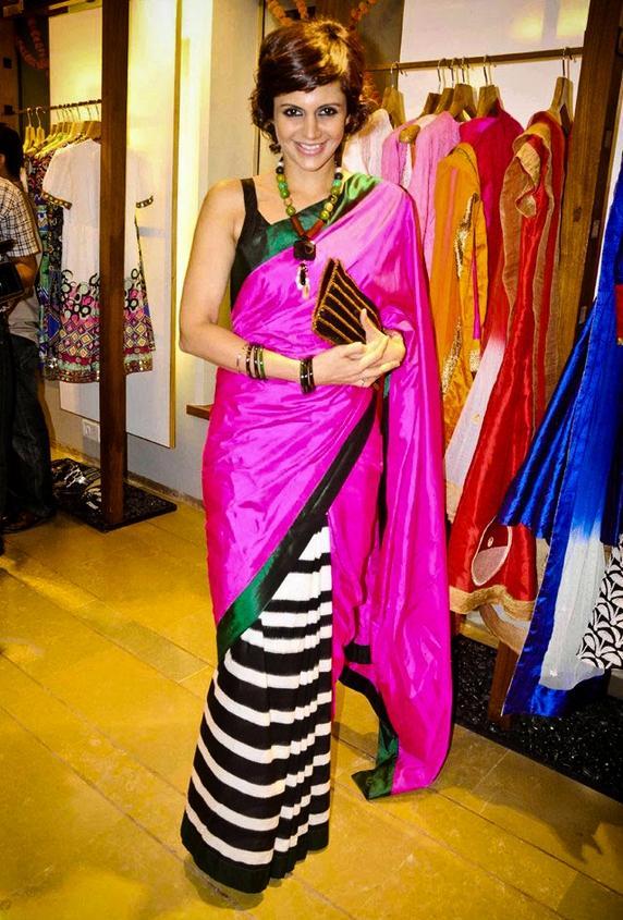 Mandira Bedi Masaba Saree Still
