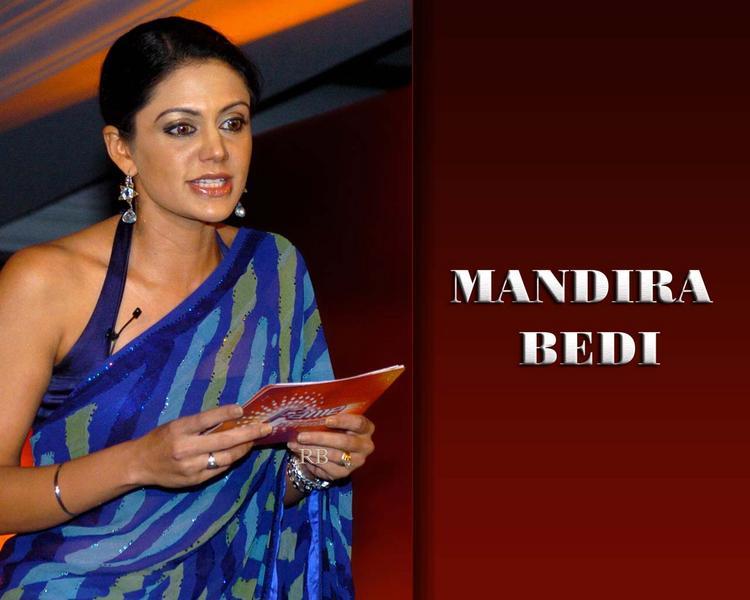 Mandira Bedi Sexy Saree Still