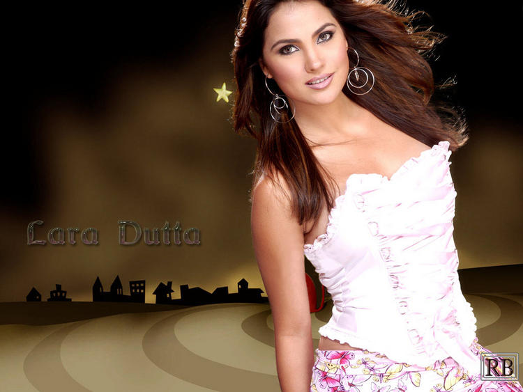 Lara Dutta Sleeveless Dress Sizzling Wallpaper