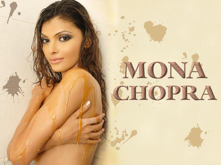 Mona Chopra without Dress Hot Wallpaper