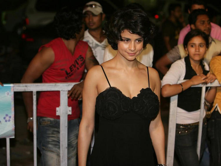 Gul Panag Black Dress Public Photo