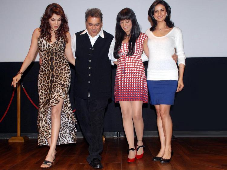 Gul Panag with Celina Jaitlet,Subhash Ghai and Isha Koppikar