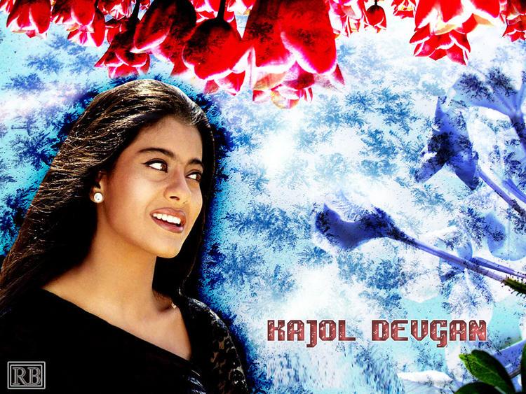 Kajol Devgan Awesome Face Cute Look Wallpaper