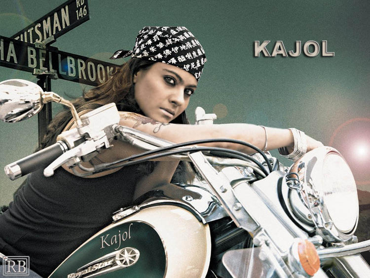 Kajol Devgan Hot Look On Bike