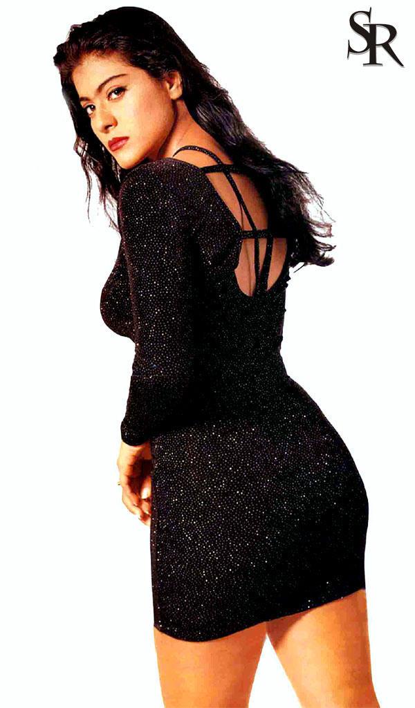 Kajol Devgan Sexy Back Expose Wallpaper