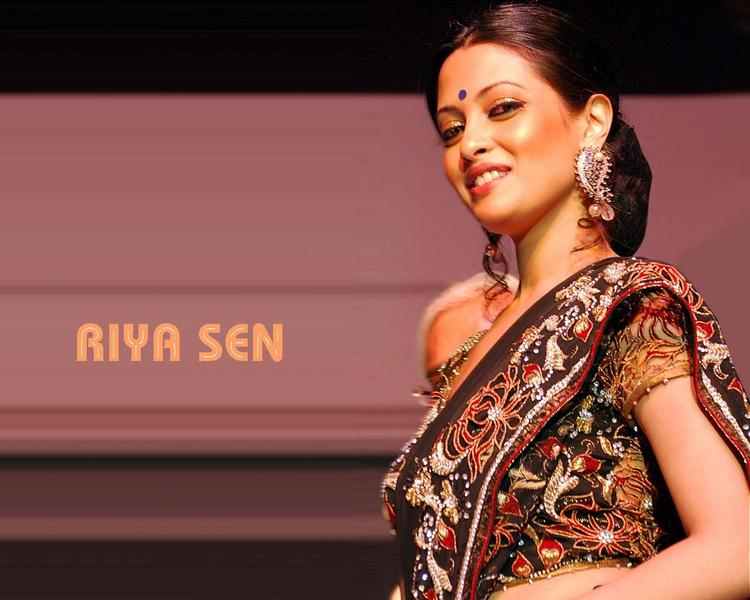 Riya Sen In Saree Glamour Still