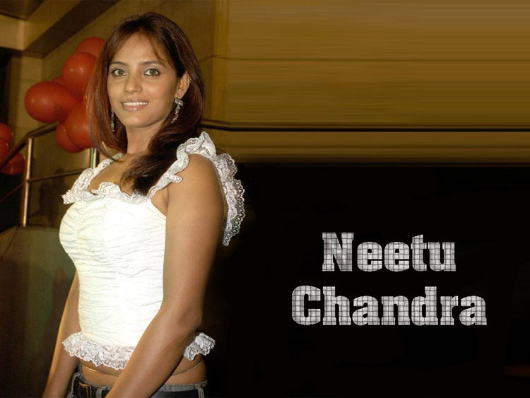 Neetu Chandra With White Tops Sexy Still