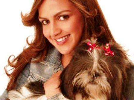 Esha Deol Cute Still With Cute Dog