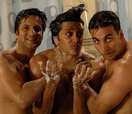 Fardeen Khan,Ritesh and Akshay In Hey Baby