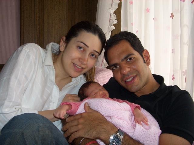 Karisma with Daughter Samaira and Husband