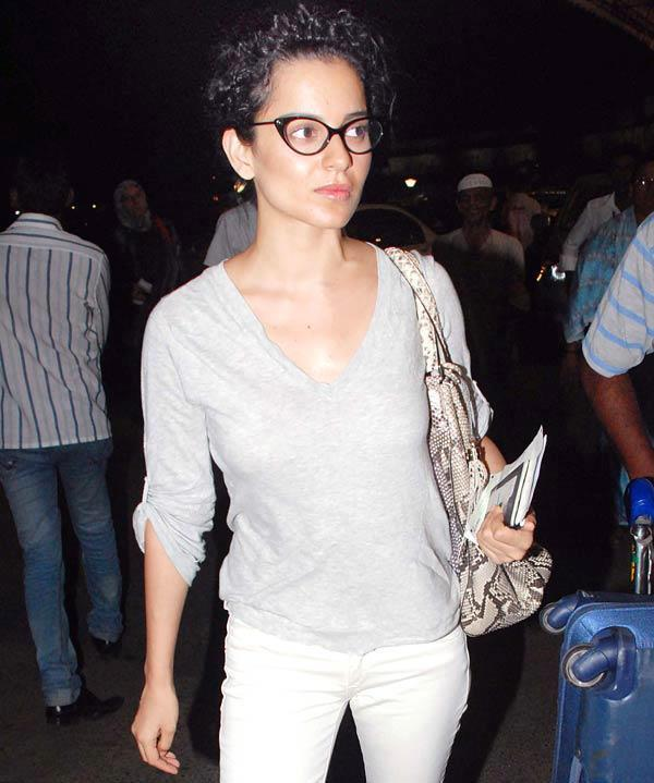 Curly Hair Beauty Kangana Ranaut Spotted at Airport