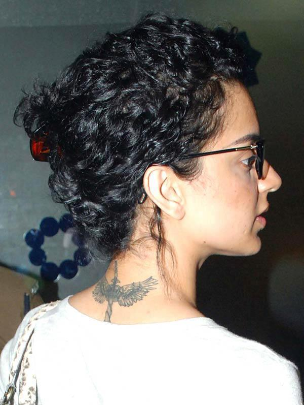 Kangana Ranaut was Seen Flaunting Her Latest Tattoo
