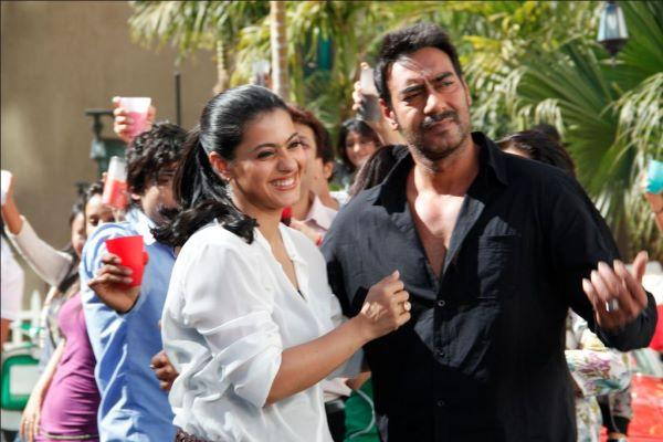 Kajol and Ajay Devgan On The Sets Of An Ad Shoot