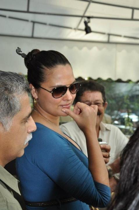 Lara Dutta Spotted at Indigo Deli in Bandra