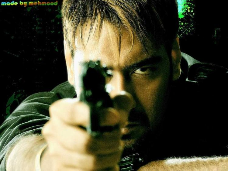 Ajay Devgan Hot Look With Gun