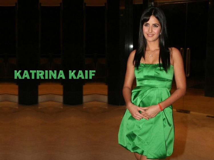 Katrina Kaif In Green Dress Wallpaper