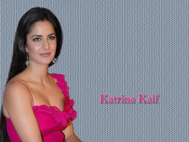 Katrina Kaif In Magenta Dress Wallpaper