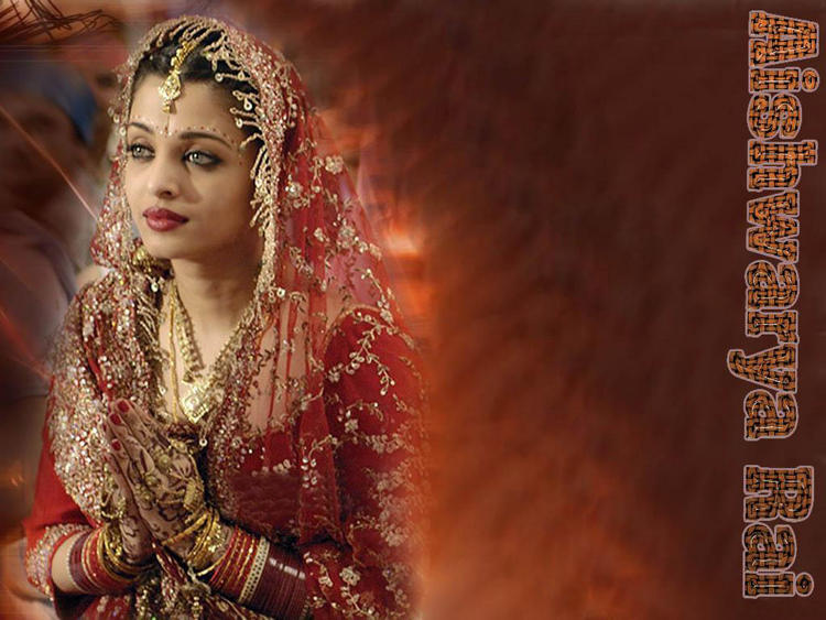 Aishwarya Rai Bridal Dress Beautiful Wallpaper