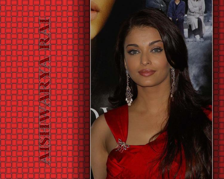 Aishwarya Rai Red Dress Awesome Look Wallpaper