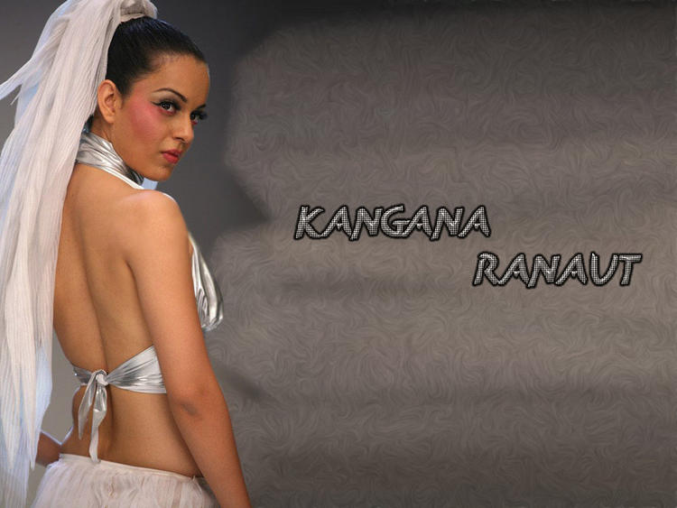 Kangana Ranaut Back Exposing Wallpaper