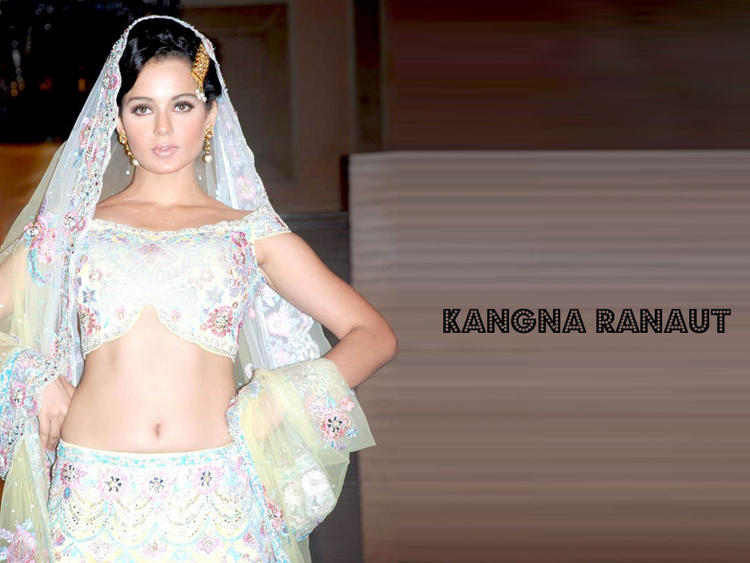 Kangana Ranaut Beautiful White Dress Wallpaper