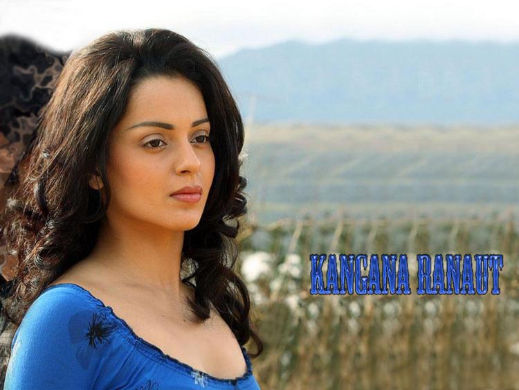 Kangana Ranaut Cute Face Look Wallpaper