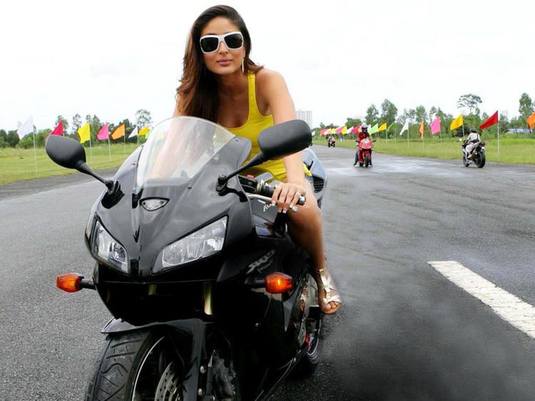 Kareena Kapoor Wonderful Still On Bike