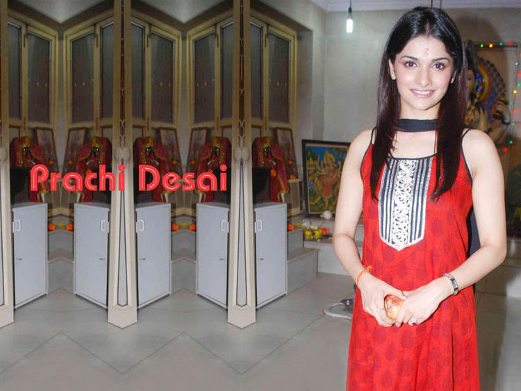 Prachi Desai Red Dress Nice Look Wallpaper