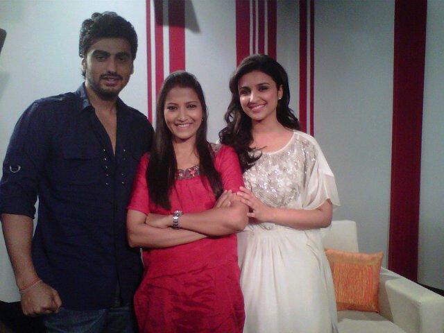 Arjun Kapoor and Parineeti Chopra Promote Ishaqzaade at the Zoom Office
