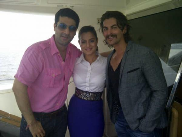Neil Mukesh,Amisha Patel Pose For Photo Shoot