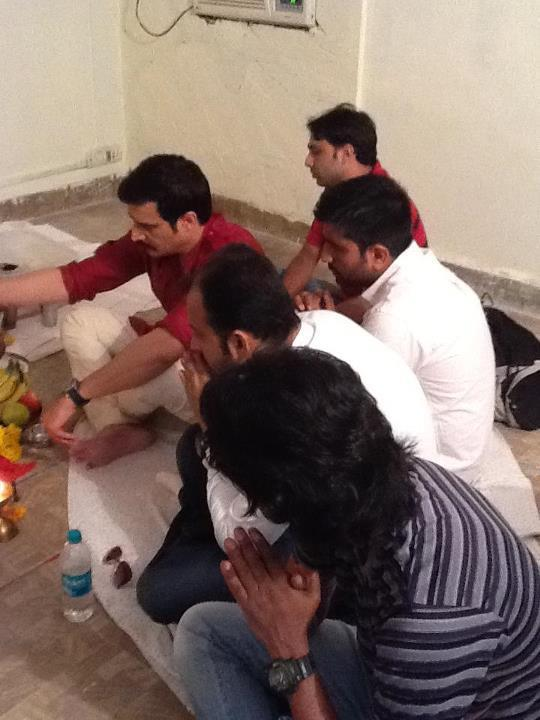 Jimmy Shergill at a Puja for Announcement of Punjabi Movie
