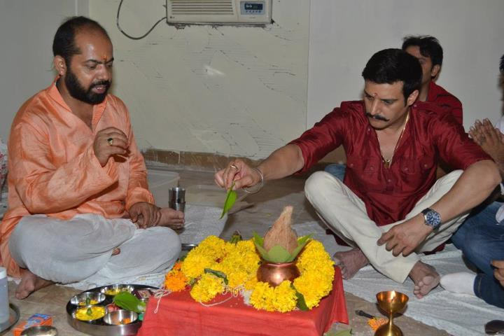 Jimmy Shergill at a Puja for the Announcement of the Punjabi Movie