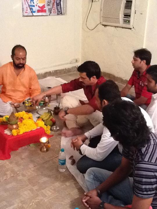 Jimmy Shergill at a Puja for the Punjabi Movie