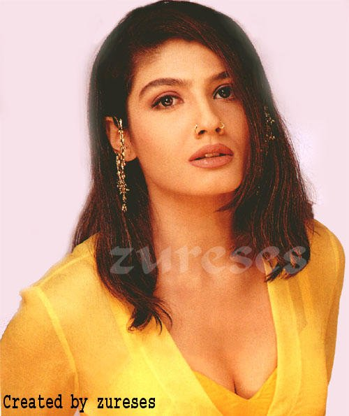 Raveena Tandon Dazzling Face Look Wallpaper