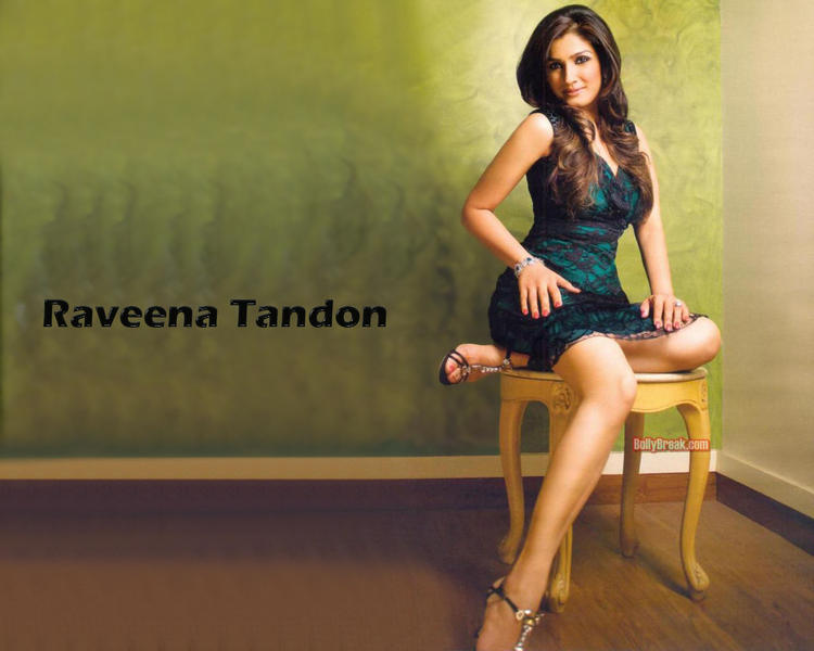 Raveena Tandon Short Dress Sexy Wallpaper