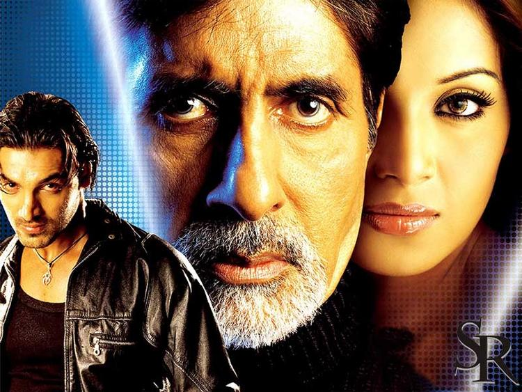 Aitbar Wallpaper Amitabh,John and Bipasha Still