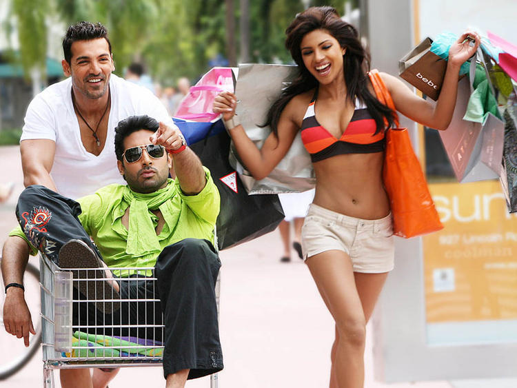 Priyanka,John Abraham and Abhishek Cute Still In Dostana