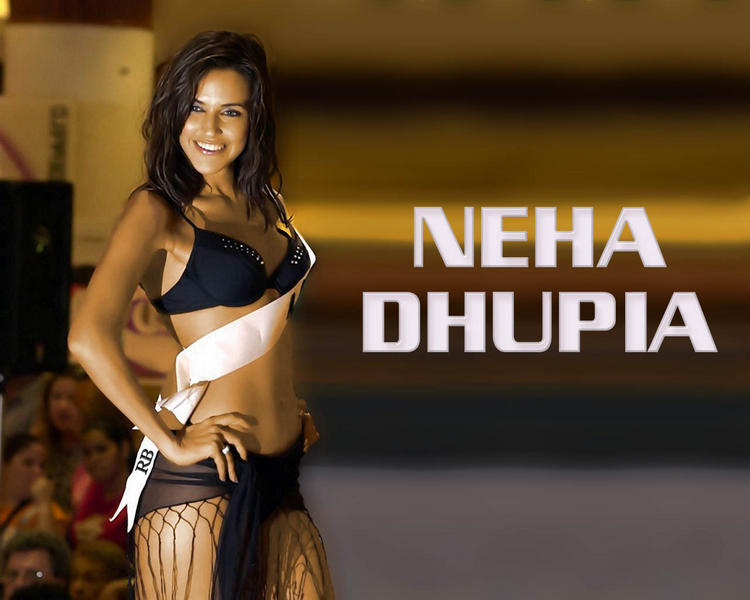 Bikini Babe Neha Dhupia Wallpaper