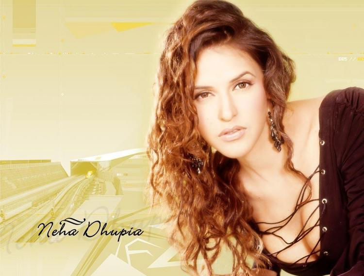 Neha Dhupia Brown Curly Hair Wallpaper
