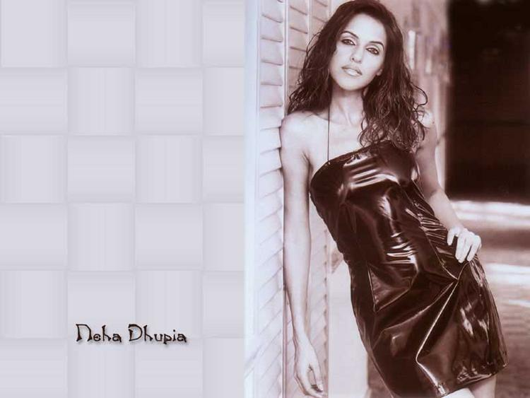 Neha Dhupia Sexy Looking Wallpaper