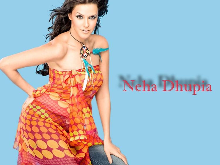 Neha Dhupia Sleeveless Dress Sexiest Wallpaper