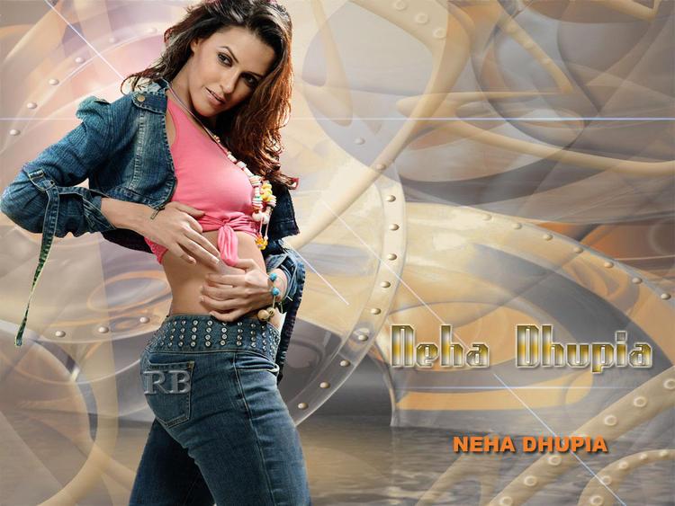 Neha Dhupia Spicy Hot Wallpaper