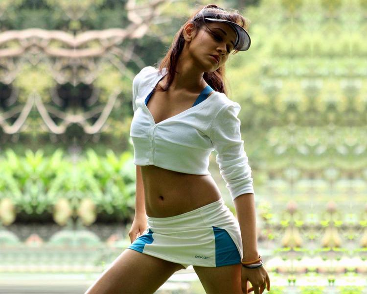 Nisha Kothari Latest Sexy Still In Mini Skirt