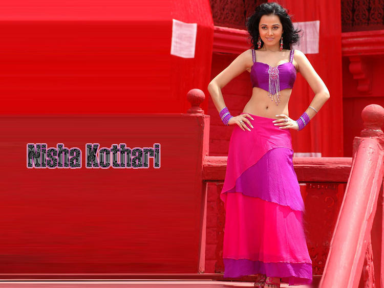 Nisha Kothari Sexy Navel Show Beauty Wallpaper