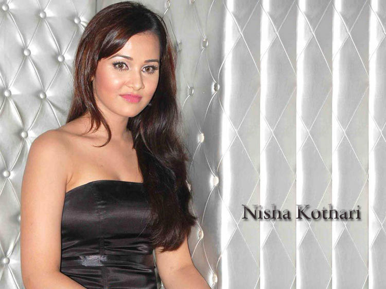 Nisha Kothari Sleeveless Dress Beauty Still