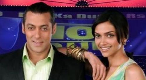 Salman Khan and Deepika In Dus Ka Dum